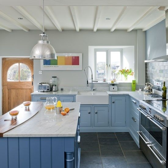 767 Best Images About Blue And White Kitchens On Pinterest