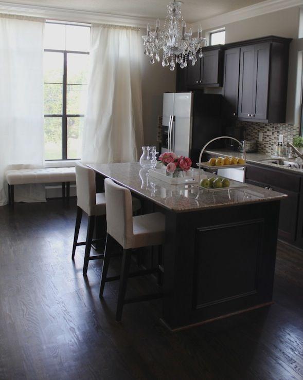Espresso Kitchen Cabinets - Contemporary - kitchen - Veronika's Blushing