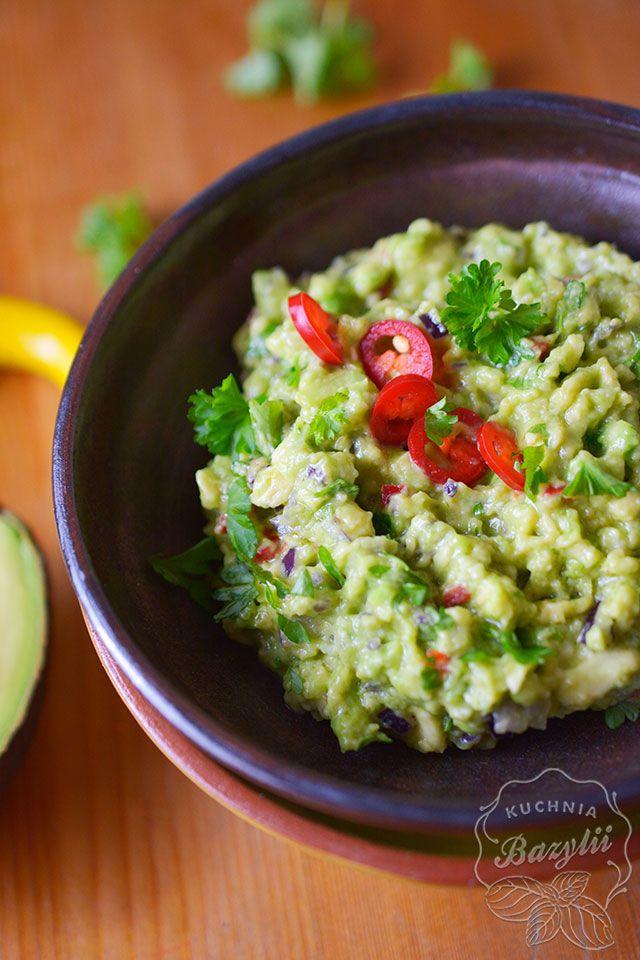 Guacamole Jak Zrobic Przepis Na Dip Z Awokado I Chili Recipe Food Healthy Fruits Guacamole Recipe