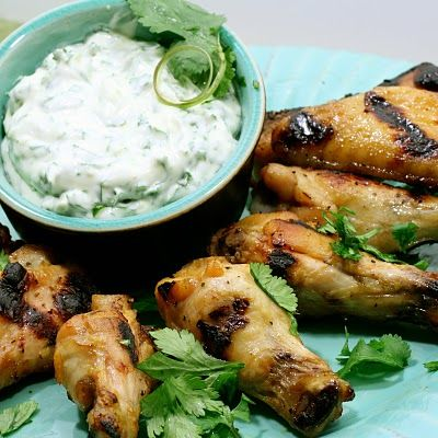 Tequila Lime Chicken Wings with Lime Cilantro Dipping Sauce: Sour Cream, Cilantro Dips, Lime Juice, Limes Chicken, Tequila Limes, Dips Sauces, Dipping Sauces, Cilantro Lime, Chicken Wings