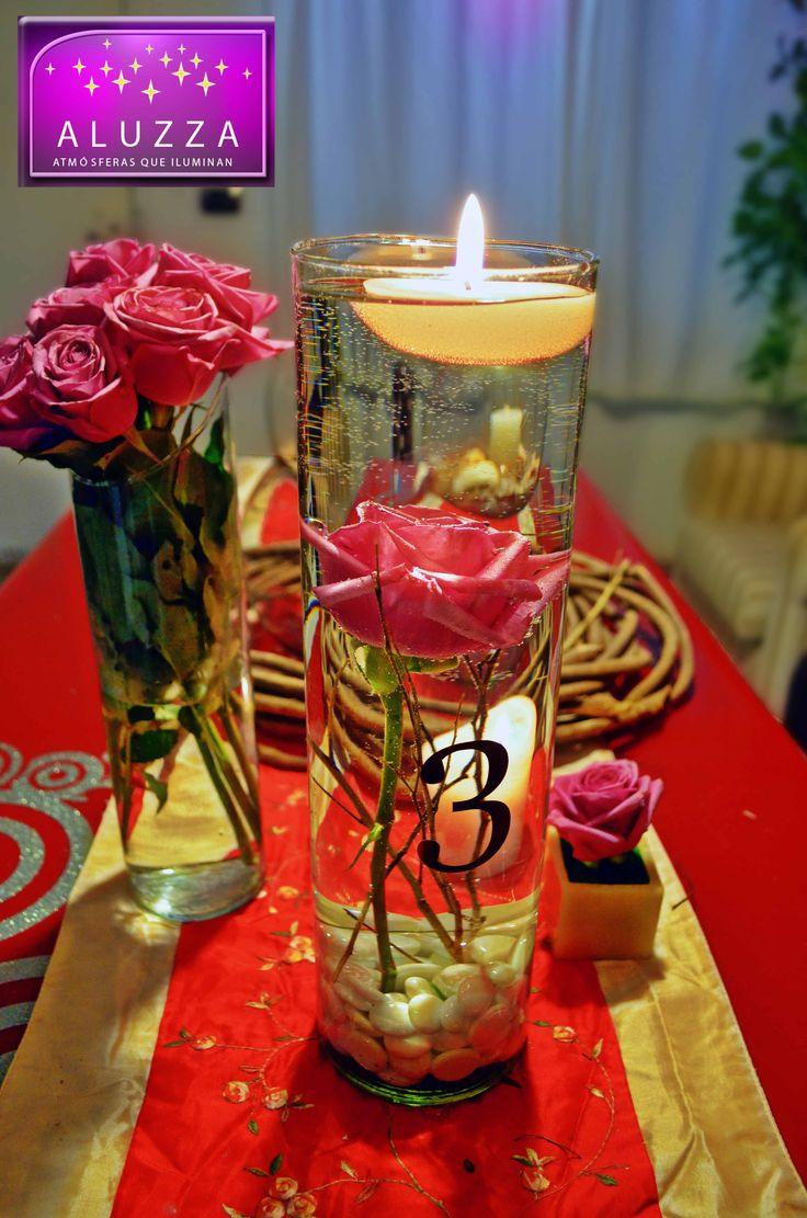 17 best images about boda on pinterest calla lily - Centros de mesa con velas ...