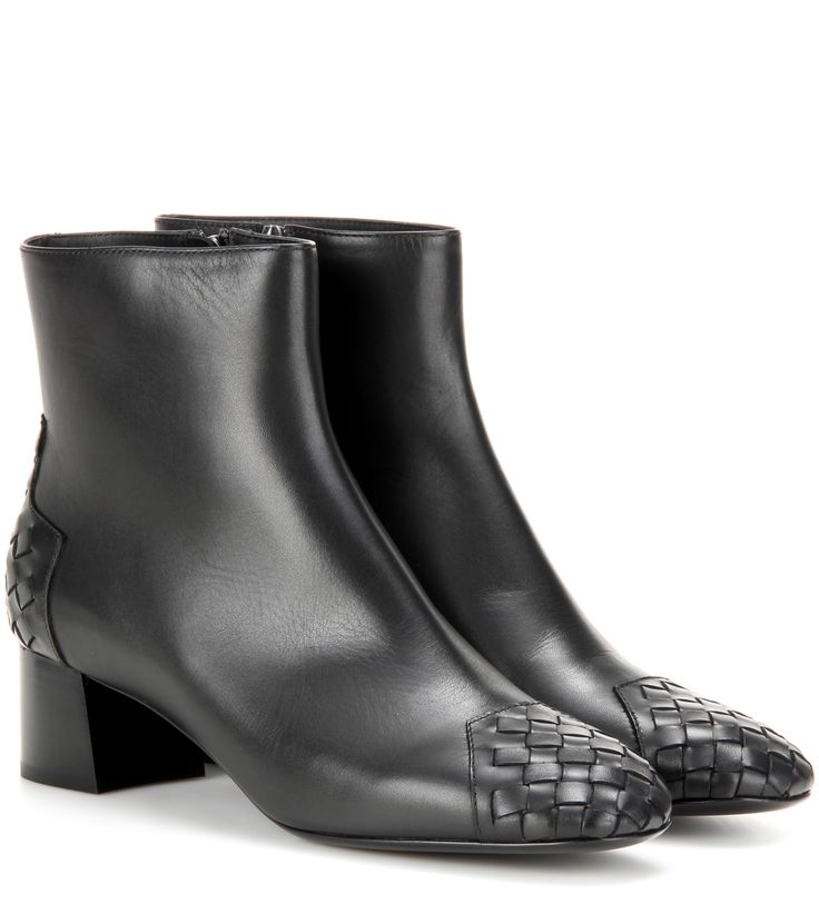 Bottega Veneta Leather 45 ankle boots Black              $129.00