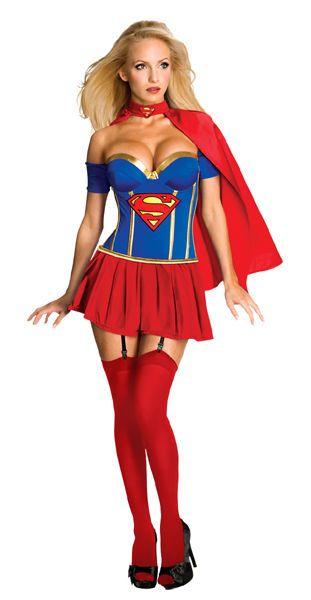 Naamiaisasu; SuperGirl Super Deluxe  Lisensoitu Supergirl Super Deluxe asu. Muuttaa sinut hetkessä taviksesta Superseksikkääksi supersankariksi. #naamiaismaailma