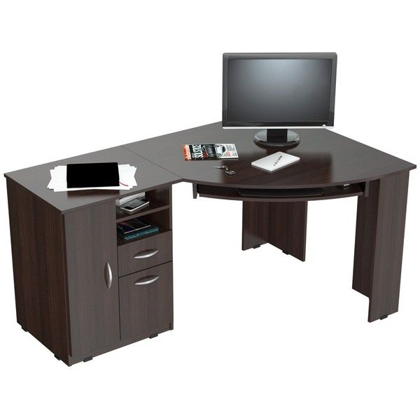 inval work station computer desk 270 liked on polyvore featuring home
