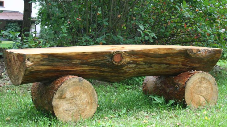 log benches | ... do? Cut down to make log bench and other pieces burn in cold winters