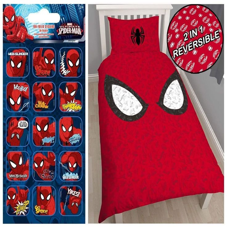 Spiderman Reflex Single/US Twin Duvet Cover Set + FREE Small Foil Stickers //Price: $43.05 & FREE Shipping //     #hashtag3