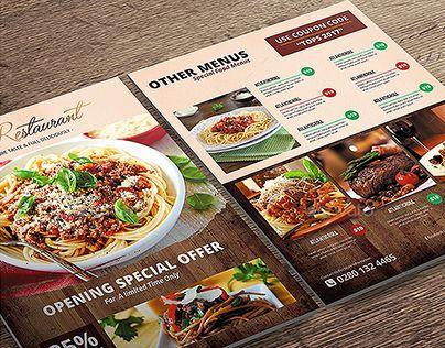 14 best Food menu template images on Pinterest Food menu - menu flyer template