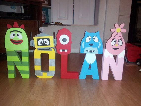 Yo Gabba Gabba Themed Character Letters By