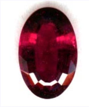 """""""Rubellite"""" showing ruby red color. 4.99 cts, oval cut, Brazil."""