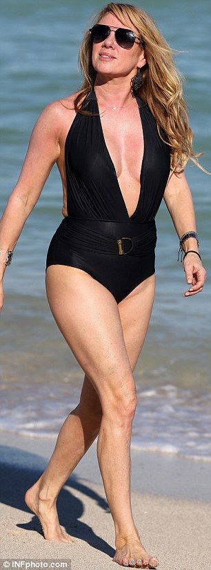 The 59-year-old Real Housewives Of New York City star showed off her impressive curves whi...