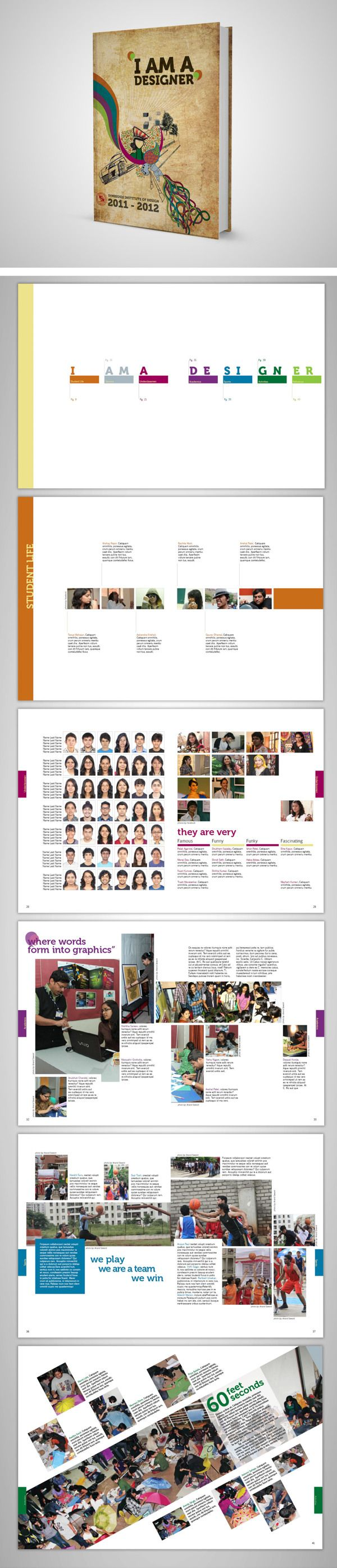 Symbiosis Institute of Design - Yearbook 2012 by Anshal Patel, via Behance