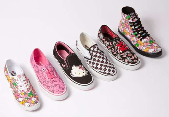 The Hello Kitty Vans Collection Has the Purrfect Shoes for Summer #Shoes #Footwear trendhunter.com