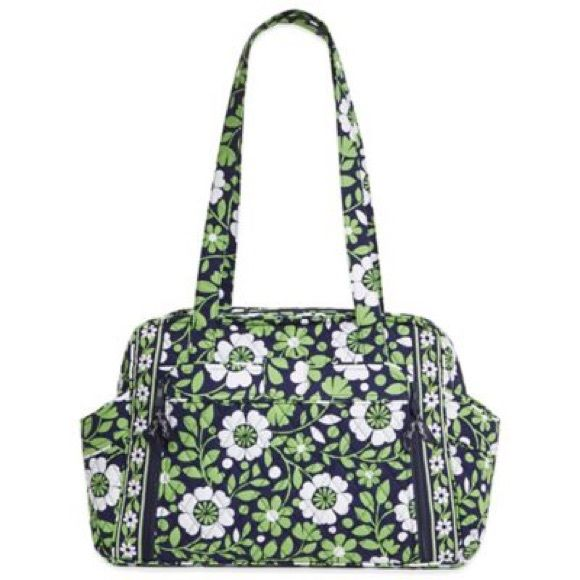 On SALE Fashionable diaper bag NWT lucky you pattern diaper bag. Never been used brand new perfect as a gift for a new mother or even for yourself if you're expecting. This beautiful baby bag is great for everyday use and has ample room for all of your baby's needs. It comes with a detachable changing mat in a compartment in the front of the bag. Vera Bradley Bags Baby Bags