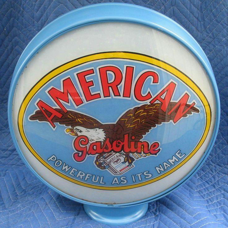 RARE Multi-Color American Gas Globe