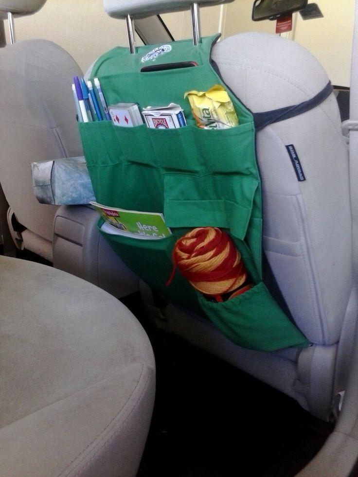 starbucks apron pins | Starbucks aprons turned backseat car organizer