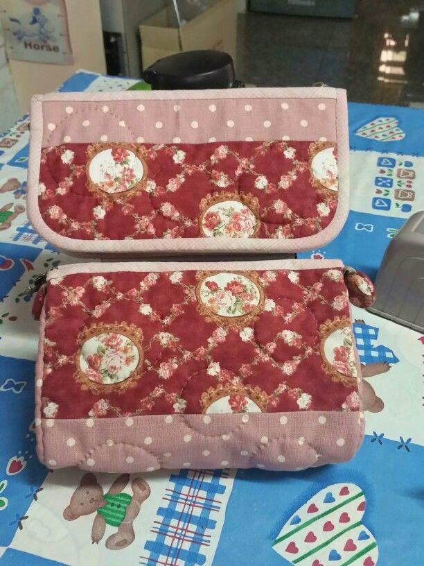 Long purse & cosmetic bag