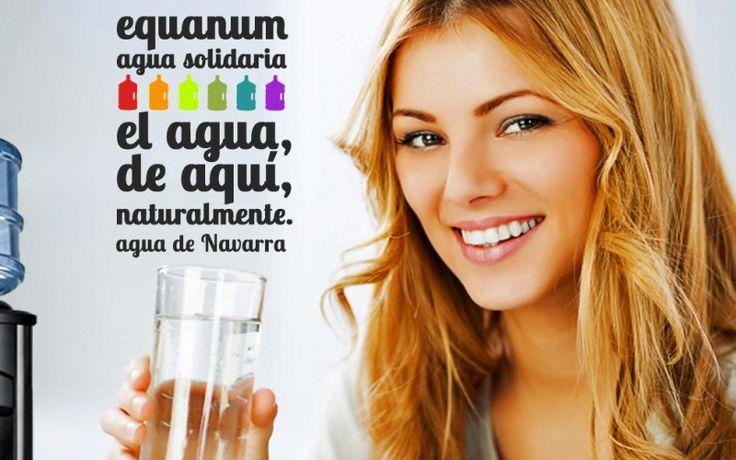 Agua mineral de Navarra. De calidad y, además, solidaria. ¿Por qué consumir agua de fuera, cuando la tienes tan cerca? http://equanum.es/agua-mineral/