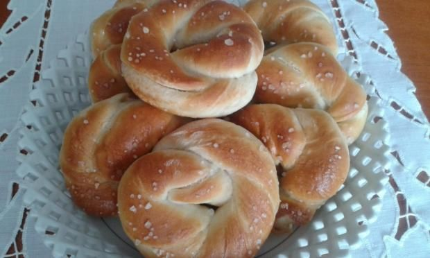 Cesnakové kysnuté venčeky - recept