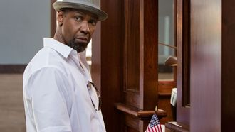 дензел вашингтон, актер, шляпа, мужик, denzel washington, флаг