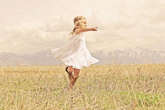 Girls White or Ivory Ruffle Toddler Dress by plainjanesstore, $26.00