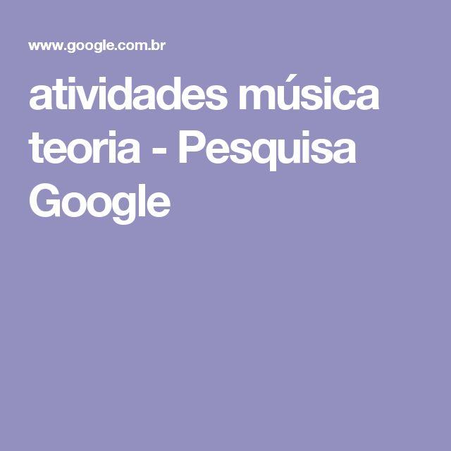 atividades música teoria - Pesquisa Google