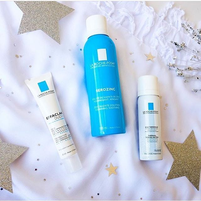 Sending out some Christmas vibes with this festive pic by French skincare brand @larocheposayau . They specialise in sensitive skin, eczema/dermatitis and acne prone skin. Here are three of their best-selling products - La Roche-Posay Serozinc, Effaclar Duo Plus and Eau Thermale Water Spray.