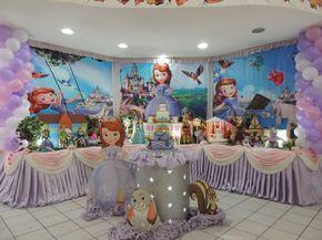 Decoração de festa infantil princesa Sofia
