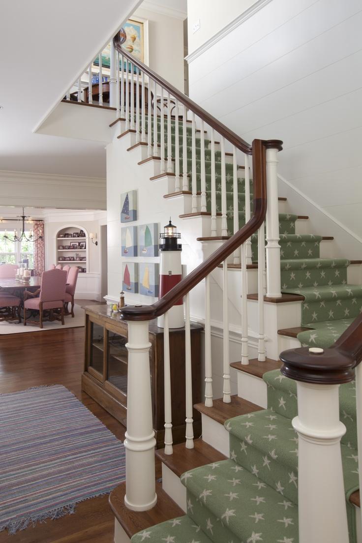 Coastal beach house tour of a classic Nantucket home with nautical style.