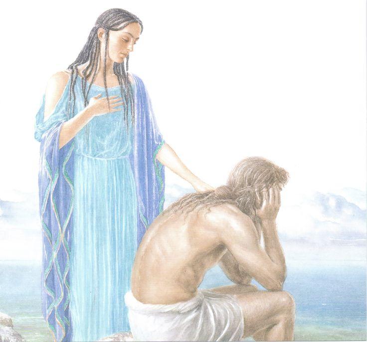 Одиссей и нимфа калипсо картинки