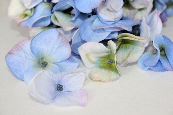 Silk Hydrangeas  35 Real Touch Silk Hydrangea by simplyserra, $6.25