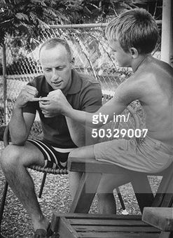 Pete Conrad and son after Gemini flight. Pete Conrad Pictures & News Photos | Getty Images. Photo by Donald Uhrbrock/The LIFE Images Collection/Getty Images)
