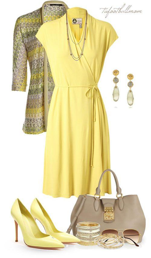 Lanvin h m yellow dress 3 quarter