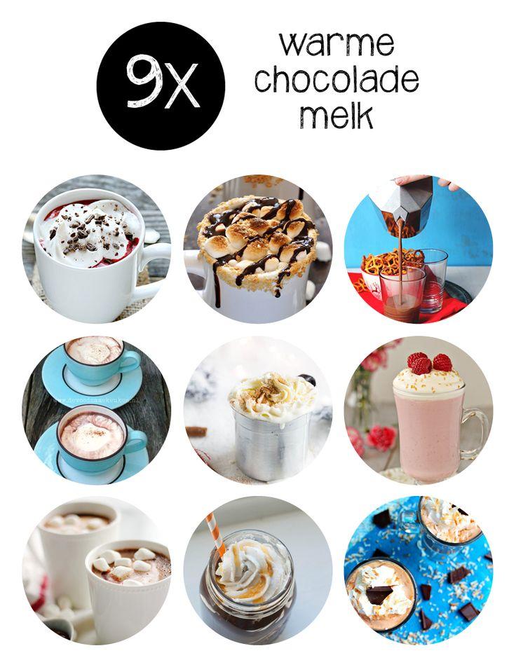 Brrrr winter! Tijd voor deze warme chocolademelk recepten