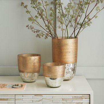 Textured Mercury Vases #westelm