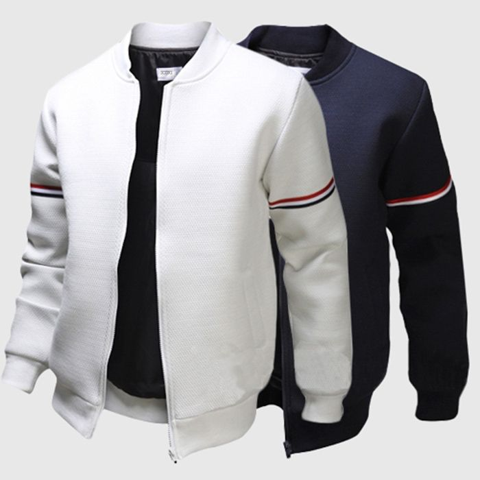 Find More Jackets Information about 2015 Hot Sale Fashion Spring Autumn Long Sleeve Stand Collar White Navy Blue Casual Men Outdoor Coats,High Quality men coat,China mens red pea coat Suppliers, Cheap coat men black from Comme t'y es belle! on Aliexpress.com