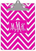 CB8044  Fuchsia Chevron Grande #PersonalizedClipboard From $36 Made in the USA