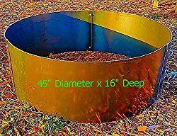16″ Deep x 45″ Diameter Round Fire Pit Ring Liner Insert