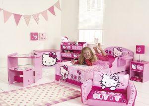 Roze Hello Kitty kamer voor meisjes   Meisjeskamers
