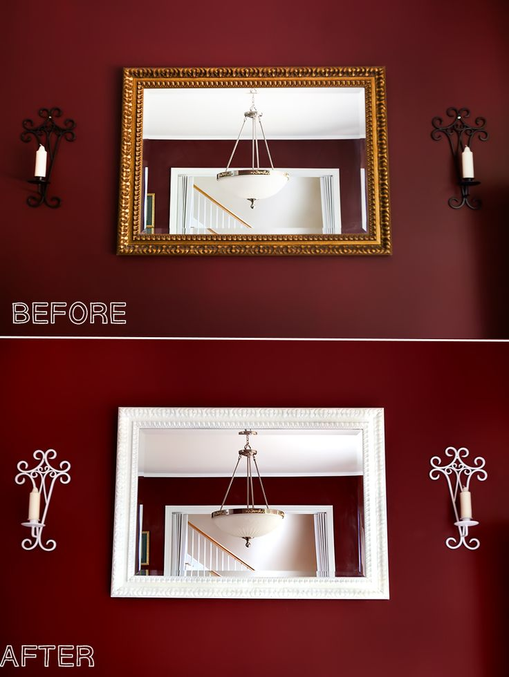 Update an Old Mirror Frame | DIY Painting Tutorial - update your wall decor for less than $15!