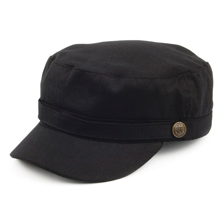Jaxon & James Herringbone Army Cap - Black