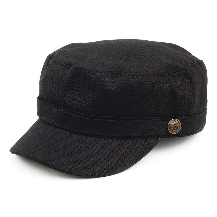 Jaxon & James Herringbone Army Cap - Black