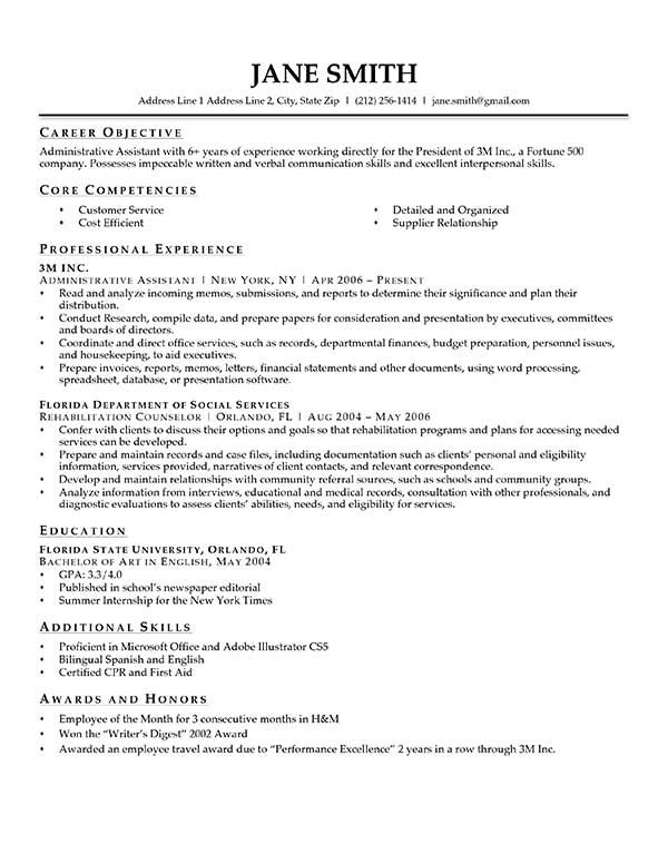 Pinterestu0027teki 25u0027den fazla en iyi Sample objective for resume fikri - resume skills section