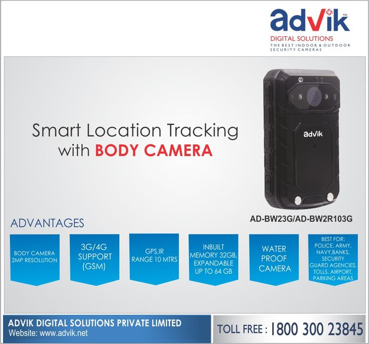 Smart Location Tracking with #BodyCamera !!! Sharp security and smart location tracking with Advik's Body Camera equipped with built-in Global Positioning System (GPS). Using the advanced #technology, it ensures the #safety of not only the person wearing the #camera but also offers sharp and strategic #security to society. It is laced with features like 3G/4G support, 7 hours continuous operational time, IP66 weatherproof rating, inbuilt memory of 32 GB and 2 MP high resolution camera. It is…