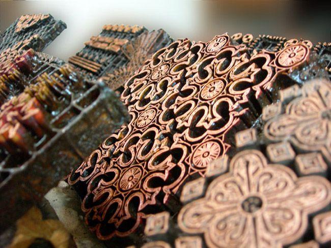 cap batik from Indonesia used to print design on fabrics