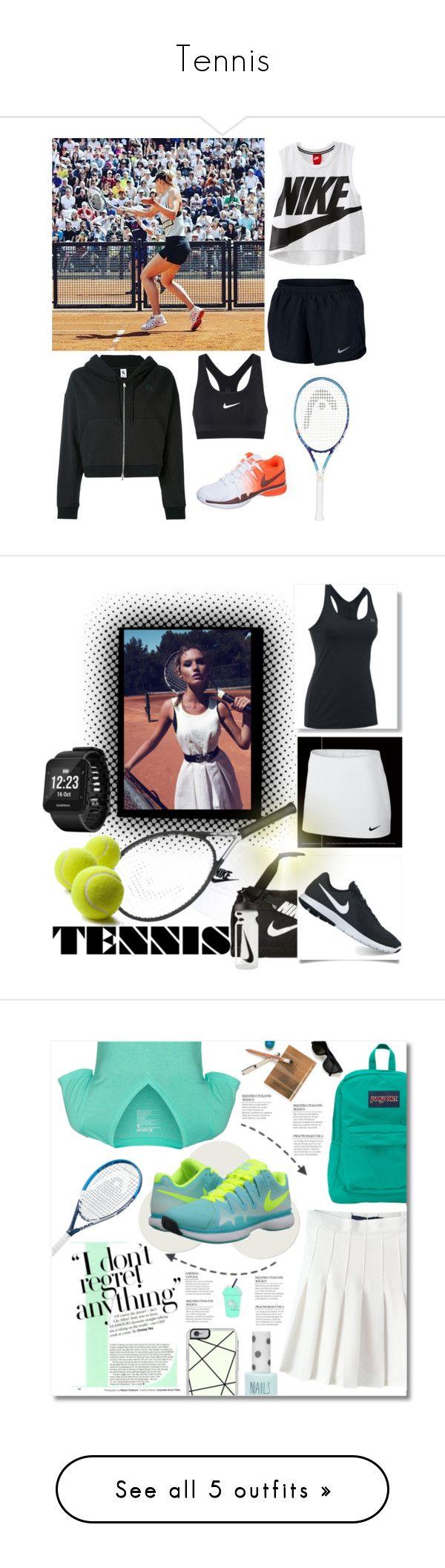 """Tennis"" by la-yuki ❤ liked on Polyvore featuring NIKE, Garmin, Hurley, JanSport, Maryam Keyhani, Topshop, Forever 21, New Balance, Chanel and adidas"
