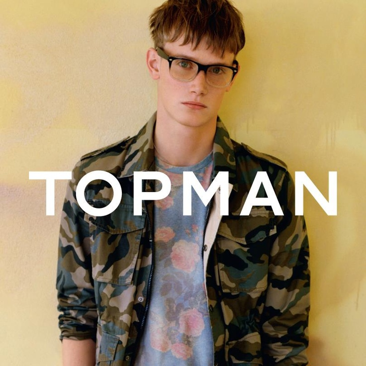 Camo worn with Floral -- Topman