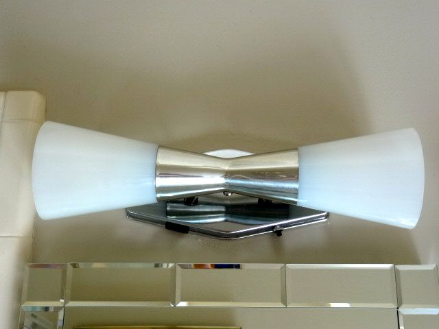 mid-century modern wall sconce light by john virden #craigslist inspiration: bathroom ...