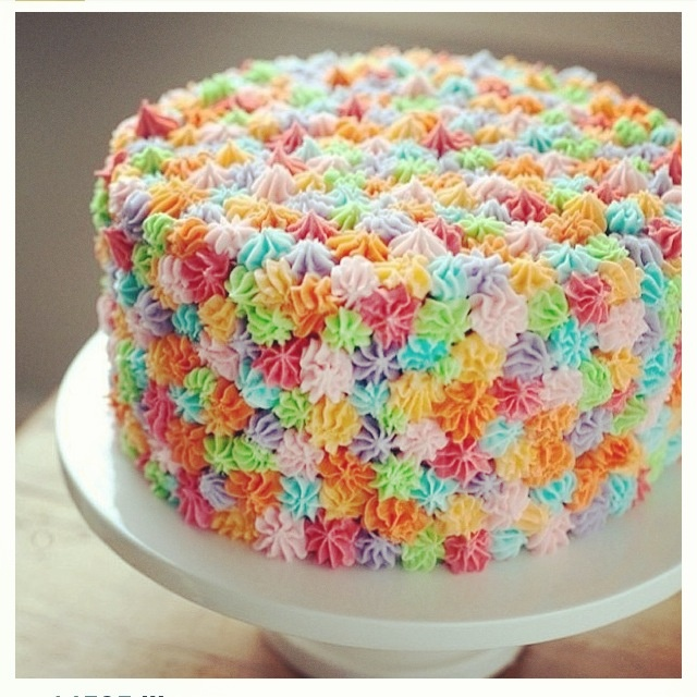 Image Of A Rainbow Cake