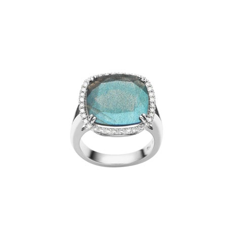 Jan Logan 18ct labradorite & diamond Phoebe ring