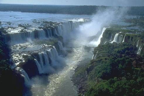 Inga Falls, Congo River, Africa.  One of the largest falls in the country